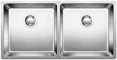 Blanco dubbele spoelbak Andano 400/400 Onderbouw met Trekknop 518326