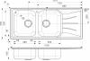 Reginox Diplomat 30 LUX dubbele RVS Spoelbak met afdruip opbouw B08S6RBP08GDS