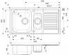 Reginox Centurio 1,5 RVS spoelbak met afdruip vlakbouw B49S4LLU08SDS.9