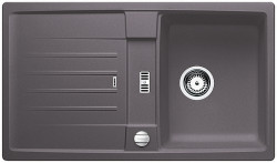 Blanco spoelbak Lexa 45 S Manueel opbouw rock grey 518859