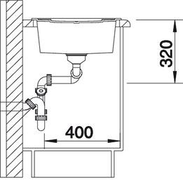 Blanco spoelbak Metra 8 S manueel opbouw rock grey 518884