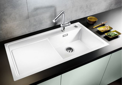 Blanco spoelbak Zenar XL 6 S-F BL rock grey vlakinbouw 519349
