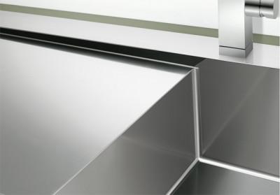 Blanco spoelbak Claron 8 S-IF trekknop links vlakinbouw RVS 514004