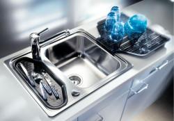 Blanco spoelbak Classic 45 toeb. grijs opbouw RVS 507986