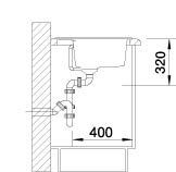 Blanco spoelbak Dalago 6-F vlakinbouw alumetallic 514770