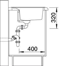 Blanco spoelbak Dalago 8 opbouw antraciet 516629