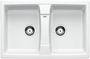 Blanco spoelbak Lexa 8 Manueel opbouw wit 514694