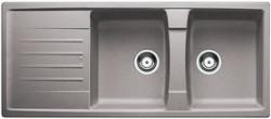 Blanco spoelbak Lexa 8 S Manueel opbouw alumetallic 514709