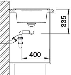 Blanco spoelbak Lexa 8 S Manueel opbouw wit 514710