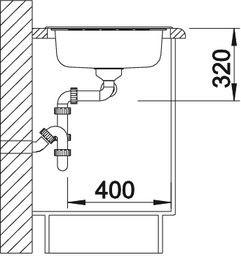 Blanco spoelbak Livit 8S manueel opbouw RVS lichtglanzend 514798