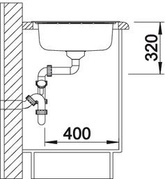 Blanco spoelbak Livit XL 5S manueel opbouw RVS 515651