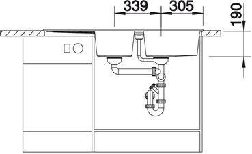 Blanco spoelbak Metra 8 S manueel opbouw wit 513064