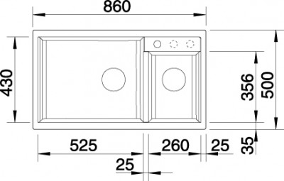 Blanco spoelbak Metra 9 manueel opbouw alumetallic 513268