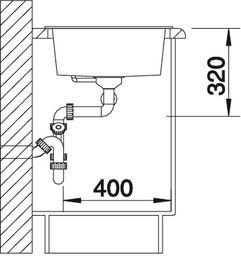 Blanco spoelbak Metra 9 manueel opbouw antraciet 513273