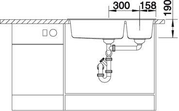 Blanco spoelbak Metra 9 manueel opbouw wit 513269