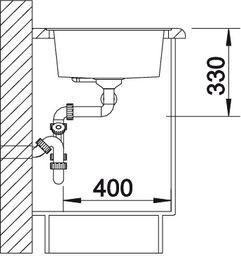 Blanco spoelbak Metra 9-F manueel opbouw jasmijn 513275