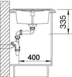 Blanco spoelbak Metra XL 6 S Manueel opbouw champagne 515138