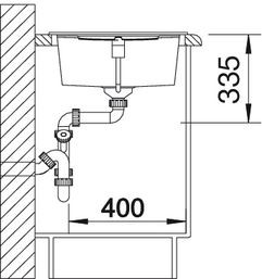 Blanco spoelbak Metra XL 6 S Manueel opbouw tartufo 517359