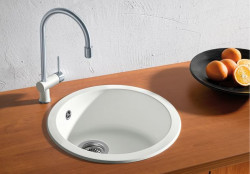 Blanco spoelbak Rondo opbouw wit 511621