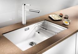 Blanco spoelbak Subline 700-U Level manueel onderbouw wit 518603