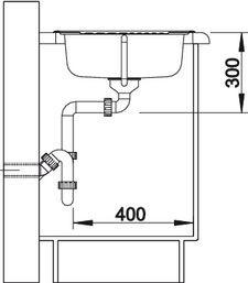 Blanco spoelbak Tipo 45 S Mini opbouw RVS 516053