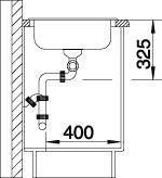 Blanco spoelbak Tipo 8 S opbouw RVS 513014