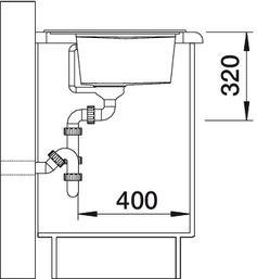 Blanco spoelbak Zenar 45 S BL opbouw zonder toeb. antraciet 518468