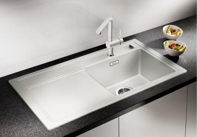 Blanco spoelbak Zenar 45 S BL opbouw zonder toeb. champagne 518473