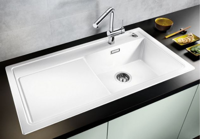Blanco spoelbak Zenar XL 6 S BL opbouw alumetallic 516952