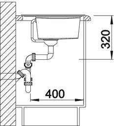 Blanco spoelbak Zenar XL 6 S BL opbouw jasmijn 516954