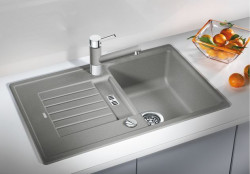 Blanco spoelbak Zia 45 S automatisch opbouw alumetallic 514717