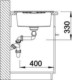 Blanco spoelbak Zia 8 S manueel opbouw wit 515597