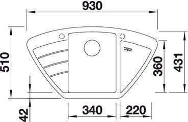 Blanco spoelbak Zia 9 E automatisch opbouw jasmijn 514751