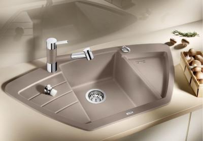 Blanco spoelbak Zia 9 E automatisch opbouw tartufo 514755