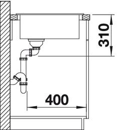 Blanco spoelbak Zia 9 E manueel opbouw antraciet 514764