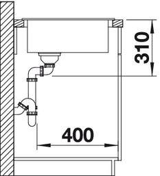 Blanco spoelbak Zia 9 E manueel opbouw cafe 515074