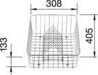 Blanco vaatkorf met bordenrekje CLASSIC RVS 507829