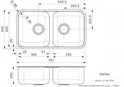 Reginox Halifax dubbele Spoelbak vlakbouw B09F1LLU08GDS