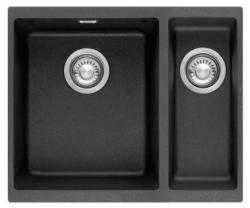 Franke Sirius 2 S2D 160 anderhalve 1,5 kunstof zwarte spoelbak 53,5x41cm onderbouw 1156276212