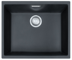 Franke Sirius 2 S2D 110.50 kunstof zwarte spoelbak 50x41cm onderbouw 1156276242