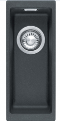 Franke Sirius 2 S2D 110.16 kunstof zwarte spoelbak 16x41cm onderbouw 1156276292