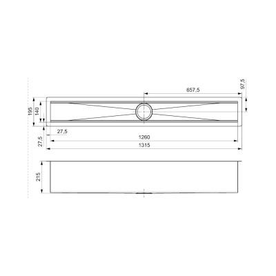 Reginox MANHATTAN 130CM RVS R1605