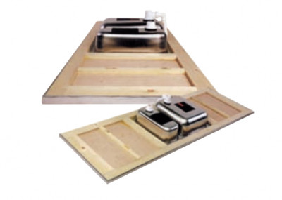 Reginox RVS werkblad wafel dubbele spoelbak midden 2115-550-2