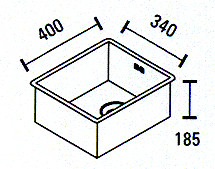 Blusani Cubic rvs spoelbak 34 onderbouw BC0034U