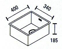 Blusani Cubic rvs spoelbak 34 vlakinbouw BC0034F