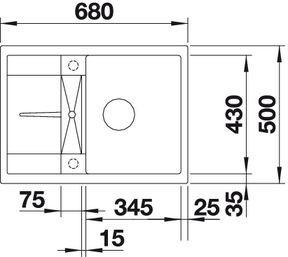 Blanco spoelbak Metra 45 S Compact Jasmijn 519577