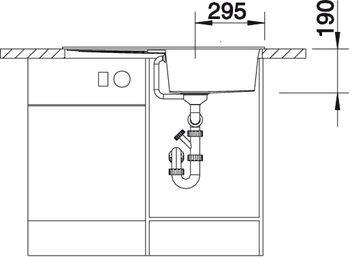 Blanco spoelbak Metra 5 S-F vlakbouw Caf