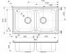 Reginox Centurio 20 dubbele RVS spoelbak opbouw B49S5RLU08GDS.9