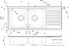 Reginox Centurio 30 dubbele RVS spoelbak met afdruip opbouw B49S6RLU08GDS.9