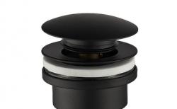 Luxe Click afvoerplug 1.1/4 mat zwart wastafelplug 1208845382